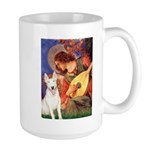 Mandolin Angel / Bull Terrier Large Mug