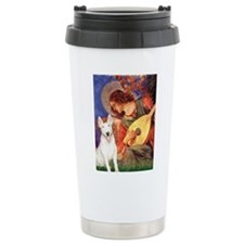 Mandolin Angel / Bull Terrier Travel Mug