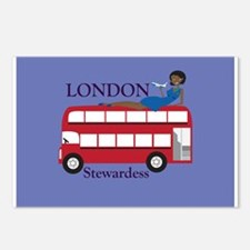 London Stewardess Postcards (Package of 8)