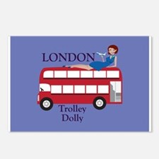 London Trolley Dolly Postcards (Package of 8)
