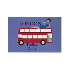 London Trolley Dolly Rectangle Magnet