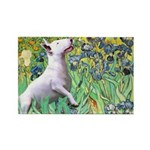 Irises / Bully #3 Rectangle Magnet (10 pack)