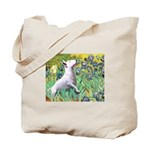 Irises / Bully #3 Tote Bag