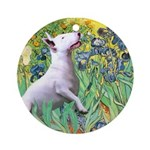 Irises / Bully #3 Ornament (Round)