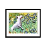 Irises / Bully #3 Framed Panel Print