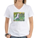 Irises / Bully #3 Women's V-Neck T-Shirt