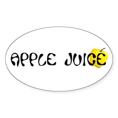 Apple Juice Oval Sticker