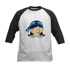 Cute Bandana Pirate Girl Tee