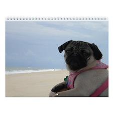 "PugVillage - Pug Wall Calendar ""D"""