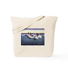 Waikiki Surfers Tote Bag