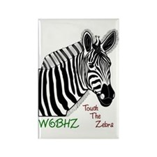 Touch the Zebra Rectangle Magnet