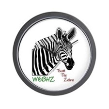 Touch the Zebra Wall Clock