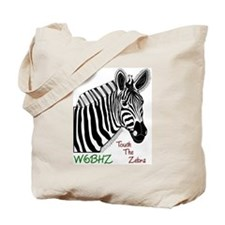 Touch the Zebra Tote Bag