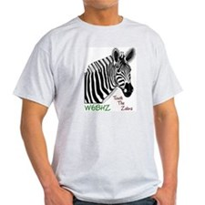 Touch the Zebra Ash Grey T-Shirt