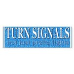 Turn Signals (bumper sticker)