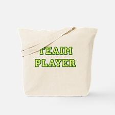 Teaim Player (yelo/grn) Tote Bag
