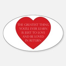 Love and be Loved Decal