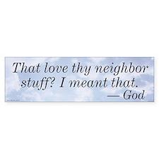 Love Thy Neighbor Stickers