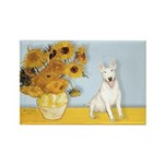 Sunflowers / Bully #4 Rectangle Magnet (10 pack)