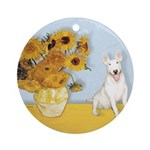Sunflowers / Bully #4 Ornament (Round)