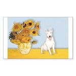 Sunflowers / Bully #4 Sticker (Rectangle)
