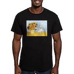 Sunflowers / Bully #4 Men's Fitted T-Shirt (dark)
