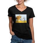 Sunflowers / Bully #4 Women's V-Neck Dark T-Shirt