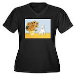 Sunflowers / Bully #4 Women's Plus Size V-Neck Dar
