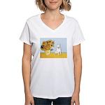 Sunflowers / Bully #4 Women's V-Neck T-Shirt