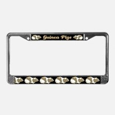 Guinea Pigs In A Row License Plate Frame