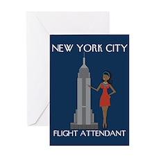 New York Flight Attendant Greeting Card