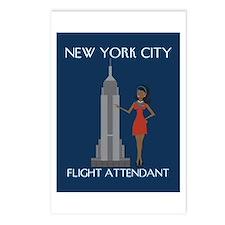 New York Flight Attendant Postcards (Package of 8)