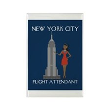 New York Flight Attendant Rectangle Magnet