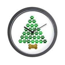 Dog's Christmas Tree Wall Clock