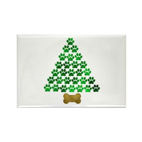 Dog's Christmas Tree Rectangle Magnet (100 pack)