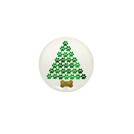 Dog's Christmas Tree Mini Button (100 pack)