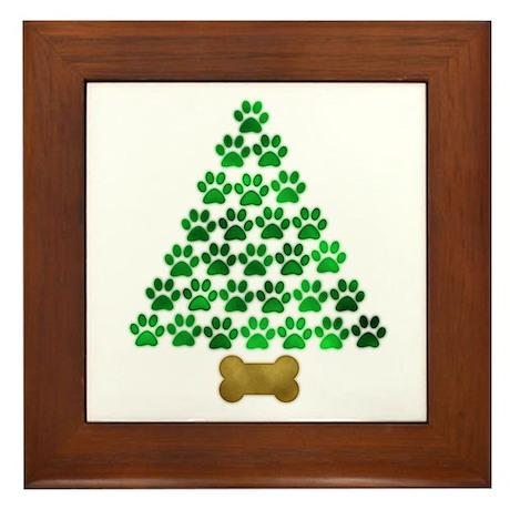 Dog's Christmas Tree Framed Tile