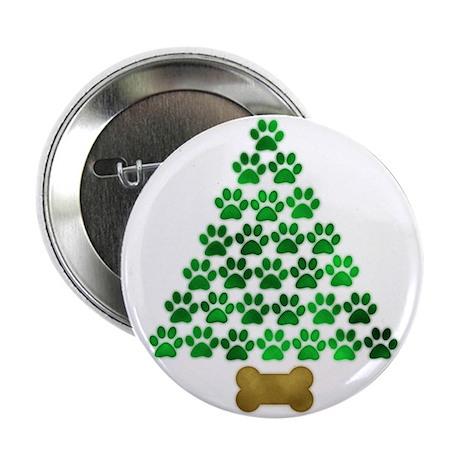 """Dog's Christmas Tree 2.25"""" Button"""