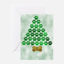 Dog's Christmas Tree Greeting Card