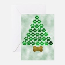 Dog's Christmas Tree Greeting Cards (Pk of 10)