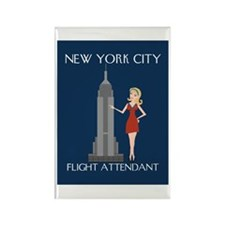 New York Flight Attendant Rectangle Magnet