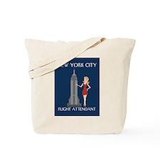 New York Flight Attendant Tote Bag