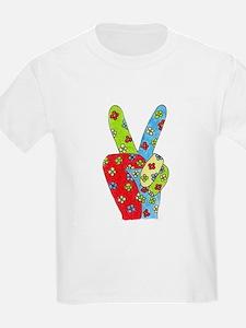 Flowery Peace Kids T-Shirt