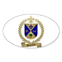 DESJARDINS Family Crest Oval Decal
