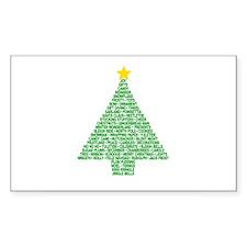 Christmas Tree Words Decal