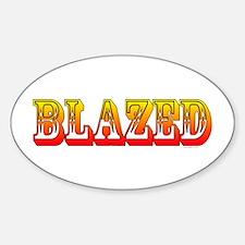 Cute Weed Sticker (Oval)
