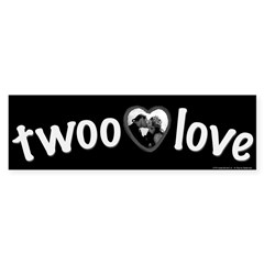 Twoo Love Princess Bride Bumper Sticker