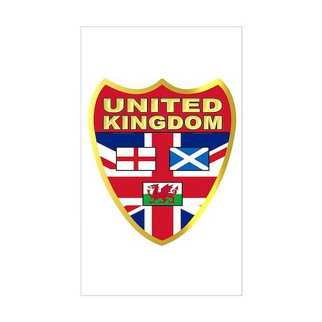 UK Badge Sticker (Rectangle)