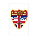 UK Badge Sticker (Rectangle 10 pk)