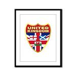UK Badge Framed Panel Print